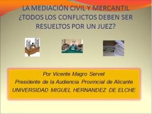 Conferencia ofrecida por D. Vicente Magro Servent