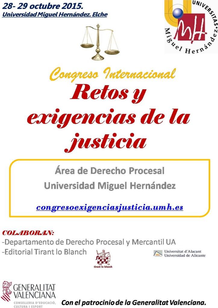 Cartel Congreso Internacional Dº procesal UMH