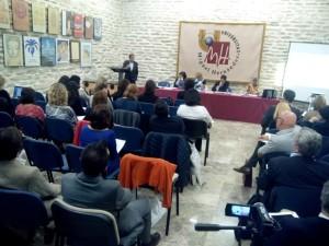 De izq. a derecha: Prof. Gimeno Sendra, Profa. armenta Deu, Profa. Cuadrado Salinas, Prof. Asencio Mellado, Profa. Pía Calderón