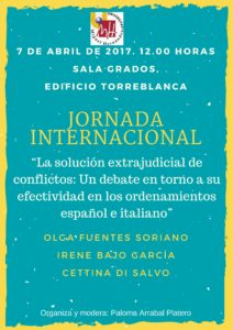Cartel jornada internacional procesal laboral