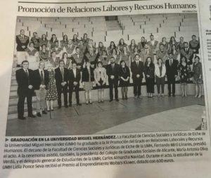 2017. graduación RRLLRRHH. Diario Información